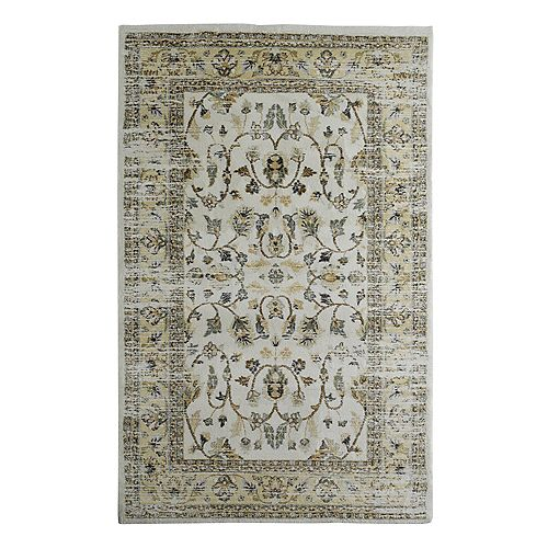 Cozy Cream 8 ft. X 10 ft. Traditional Indoor Area Rug