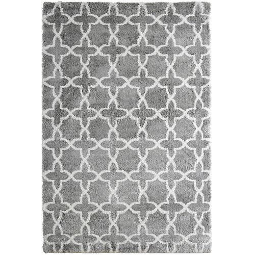 Morroco Shag Grey 8 ft. x 10 ft. Indoor Area Rug