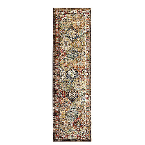 Patchwork Medallion Multi 2 ft. x 7 ft. Runner