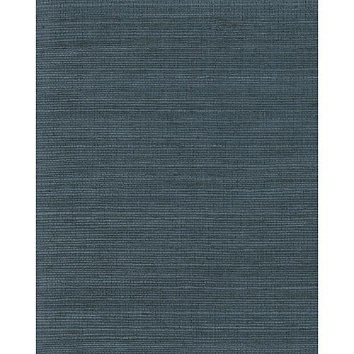 Magnolia Home Paille Japonaise Unie - Bleu - Papier Peint Amovible
