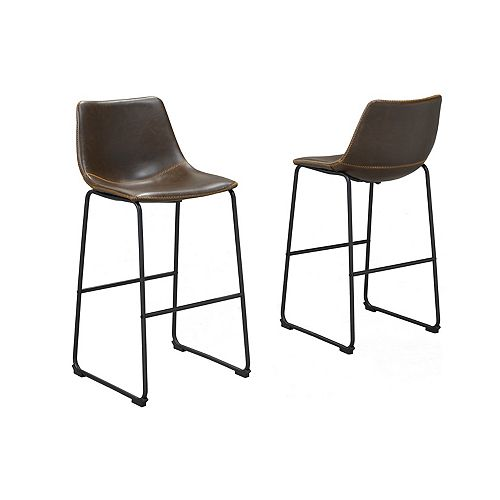 Avaya 29' Bar Stool, (Set of 2), Vintage Brown