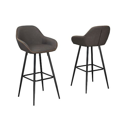 Fresno 29' Bar Stool, (Set of 2), Vintage Brown