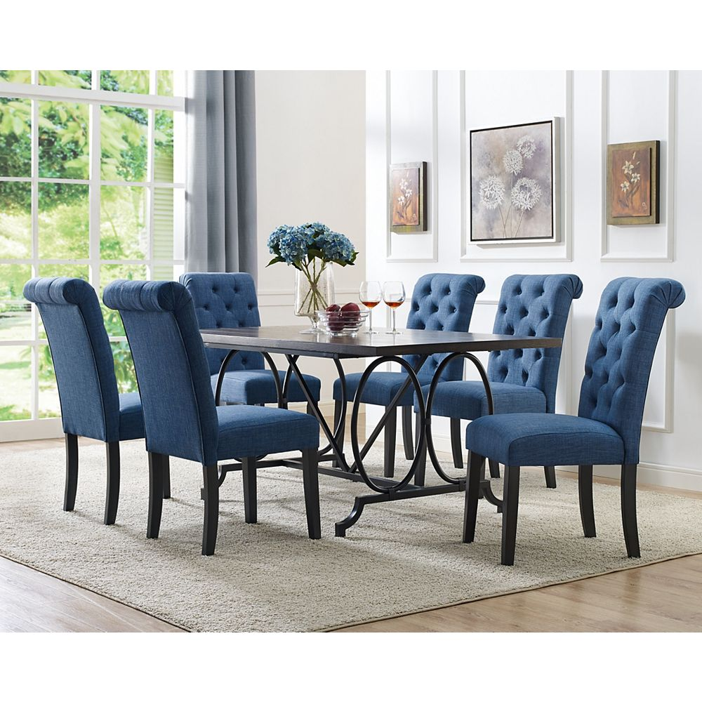 Brassex Inc. Soho 7-Piece Dining Set, Table + 6 Chairs ...