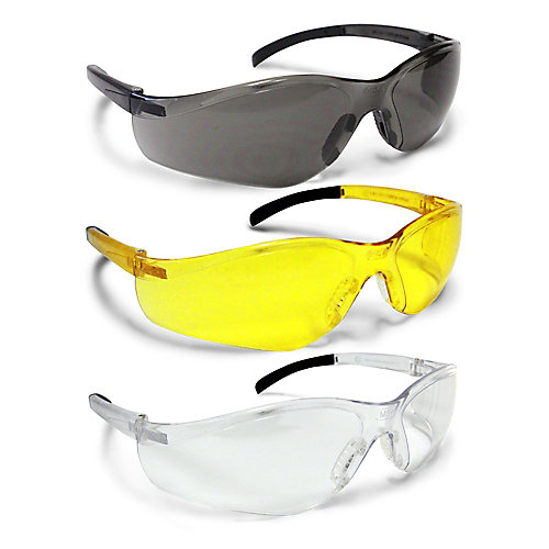 All Conditions Safety Glasses - (Clear, Amber, Smoked) (3-Pack)