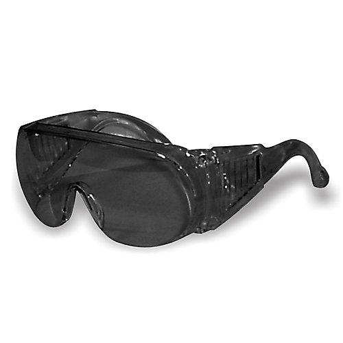 Smoked lens visitor safety glasses