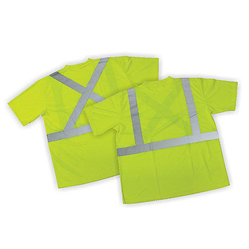 T-shirt vert dépouillé - taille TG