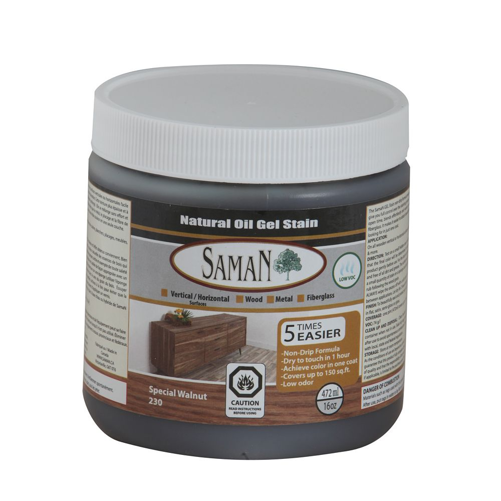 Saman Gel Stain Special Walnut 472ml The Home Depot Canada