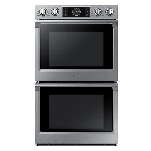 30-inch 5.1 cu.ft Double Wall Oven Electric Range with Dual Convection in Stainless Steel