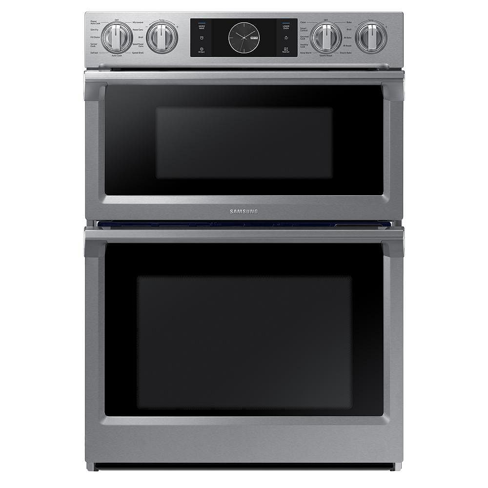 Samsung 30-inch 5.1 cu. ft. Double Electric Wall Oven with Built-in Microwave in Stainless Steel
