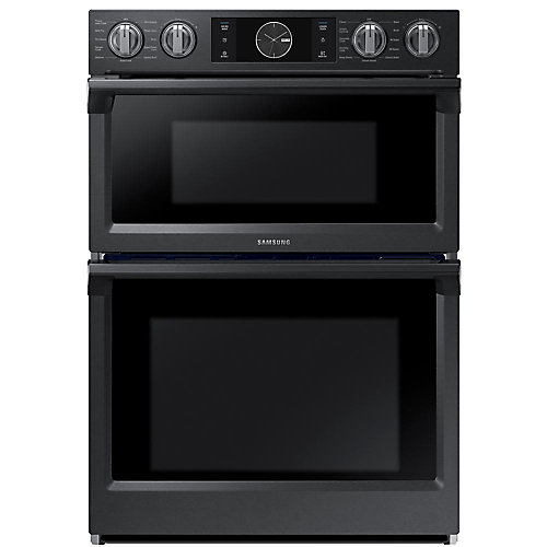 30-inch Combi Double Oven with Built-in Microwave in Black Stainless Steel with Wi-Fi