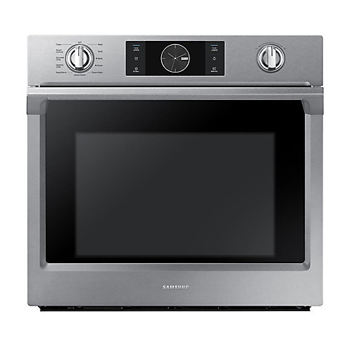 30-inch Single Electric Wall Oven with Dual Convection in Stainless Steel