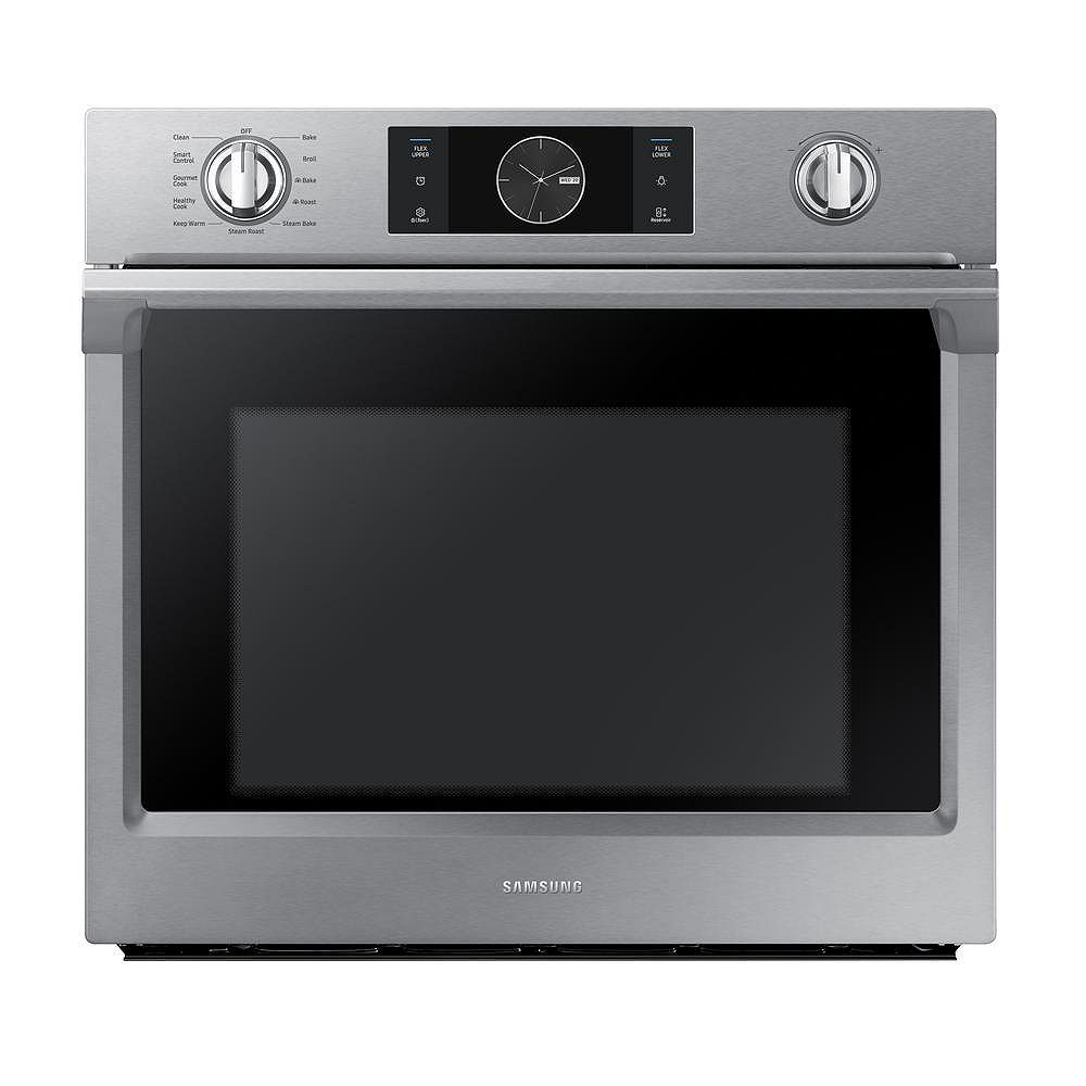 Samsung 30-inch 5.1 cu.ft Single Electric Wall Oven with Dual Convection in Stainless Steel