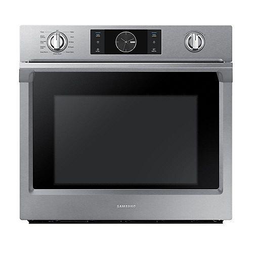 30-inch 5.1 cu.ft Single Electric Wall Oven with Dual Convection in Stainless Steel