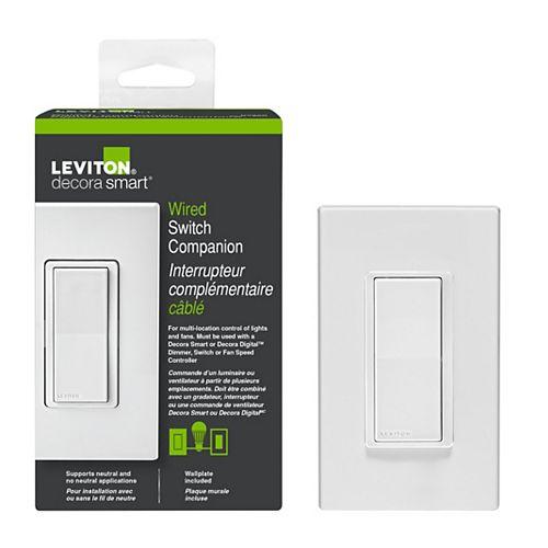Leviton Decora Télécommande à interrupteur coordonné Digital smart