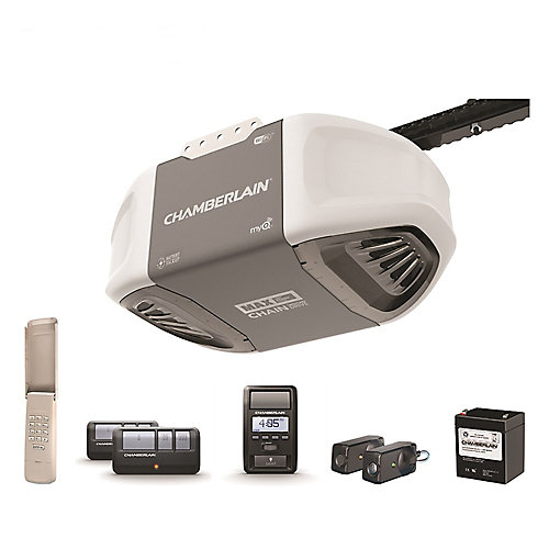 1 ¼ HPS Smartphone-Controlled Durable Chain Drive Garage Door Opener w/ Battery Backup & MAX Lifting Power