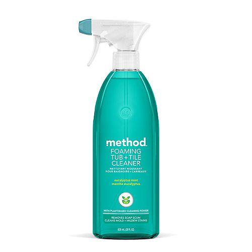 Foaming Bathroom Cleaner, Eucalyptus Mint, 28 Ounce