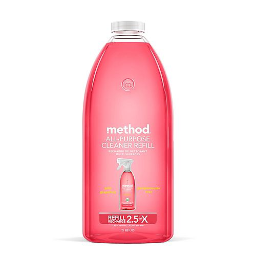 Method All-Purpose Cleaner Refill, Pink Grapefruit, 68 Ounce