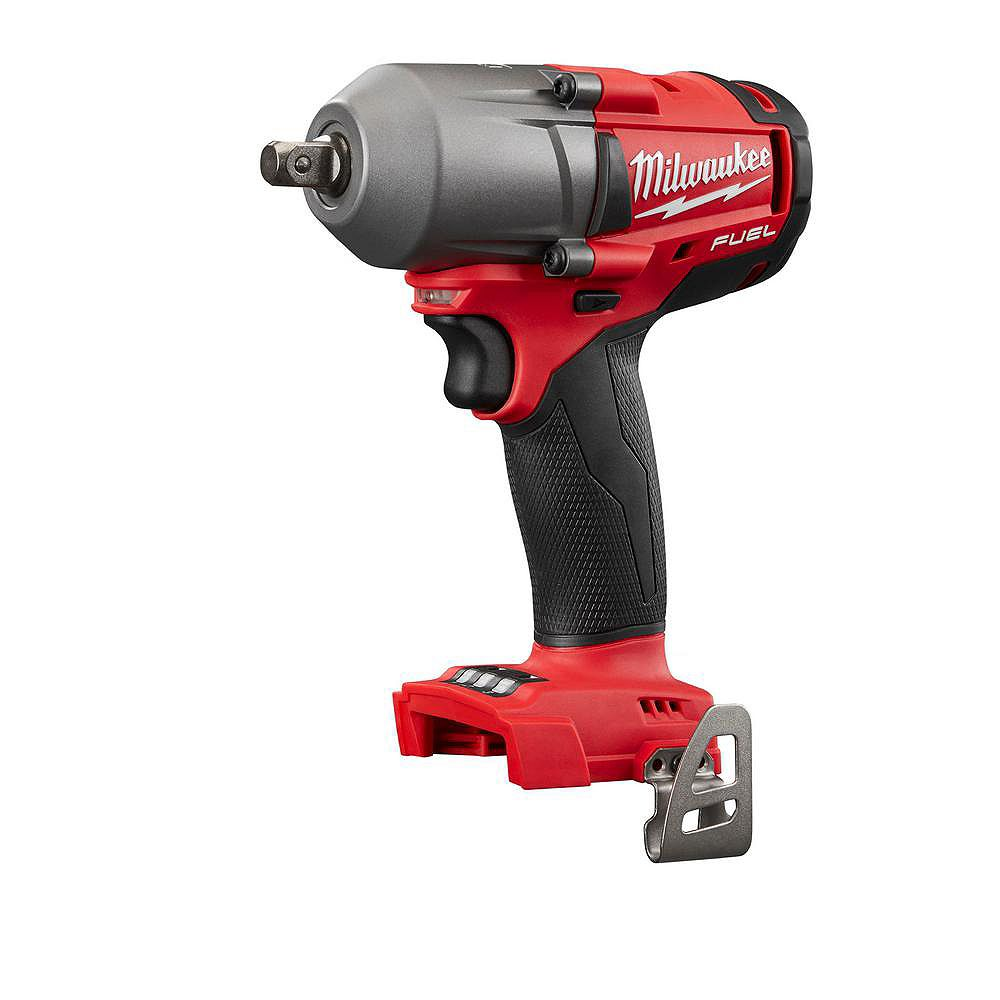 Milwaukee Tool M18 FUEL 18V Li-Ion Brushless Cordless Mid Torque 1/2 -inch Impact Wrench W/ Pin Detent (Tool Only)