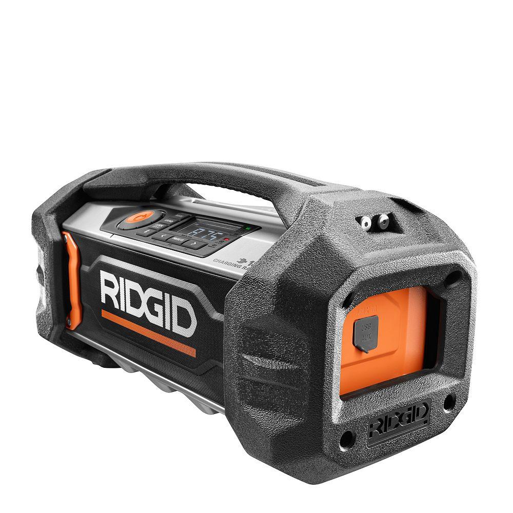RIDGID 18-Volt Bluetooth Charging Radio
