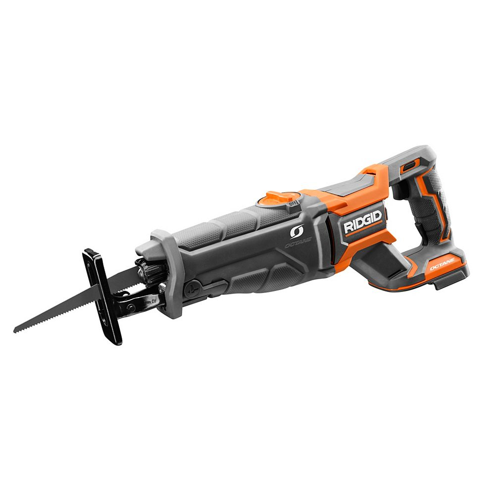 RIDGID 18V OCTANE Lithium-Ion Cordless Brushless Reciprocating Saw (Tool-Only) with Reciprocating Saw Blade
