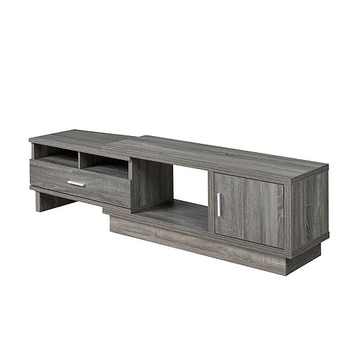 Expandable TV Stand with Storage, Grey