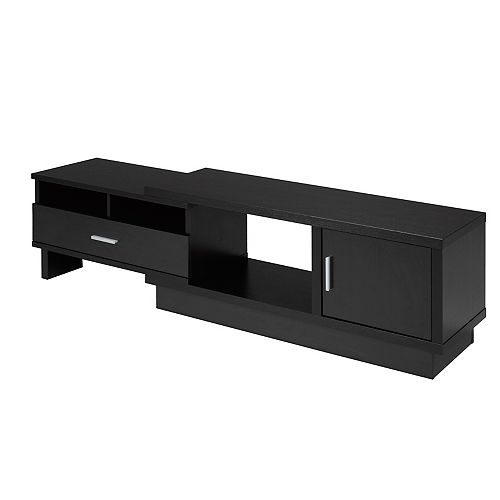 Expandable TV Stand with Storage, Dark Cherry