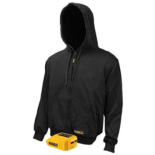 Sweat à capuche 12V/20V Max noir chauffant