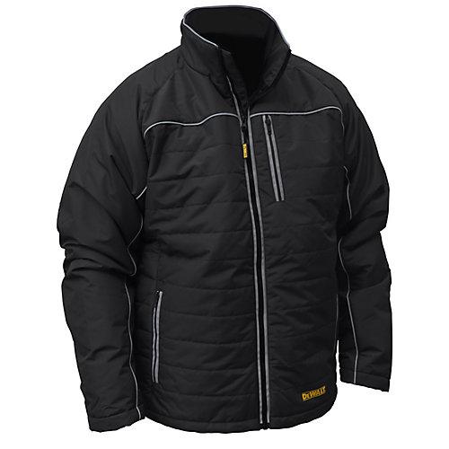 12V/20V MAX Black Mens Quilted/Heated Jacket w/ Batt Kit-XL