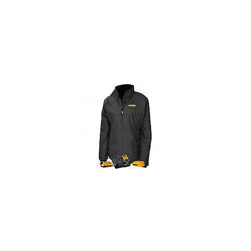 12V/20V Max Ladies Quilted/Heated Grey/BLK Jacket w/ Batt Kit-S