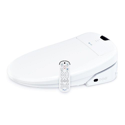 Brondell Swash 1400 Luxury Bidet Round Toilet Seat in White