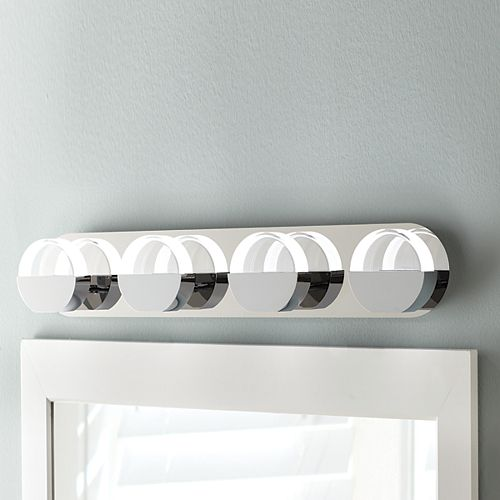 4-Light Chrome Integrated LED Vanity Light