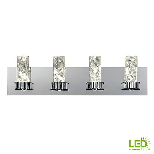 York Collection 30-Watt Crystal Integrated LED Bath Light