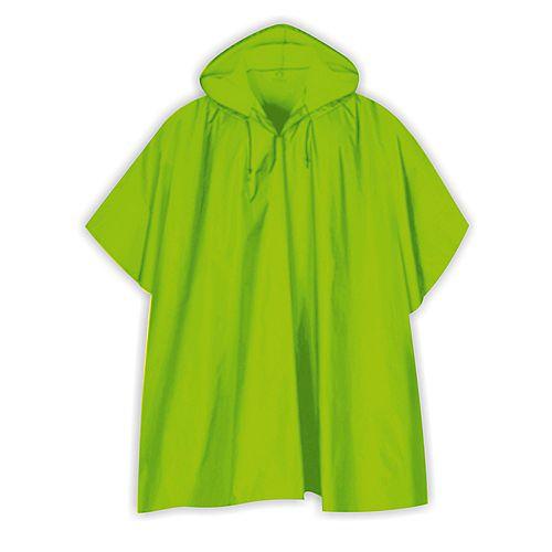 Poncho de pluie verte haute visibilité
