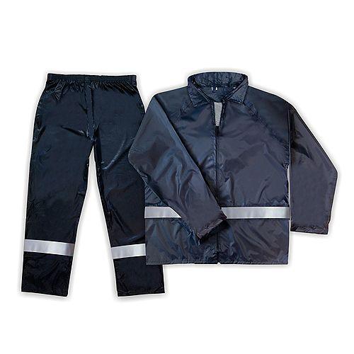 Hi-Viz 2-Piece Blue Rain Suit - Large