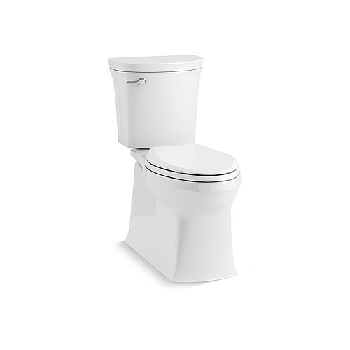 Valiant the Complete Solution 2-Piece 1.28 GPF Single-Flush Elongated Toilet in White