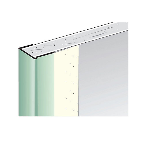 CGC Paper-Faced Metal Trim, B9 1/2 in. J Trim, 8 ft.