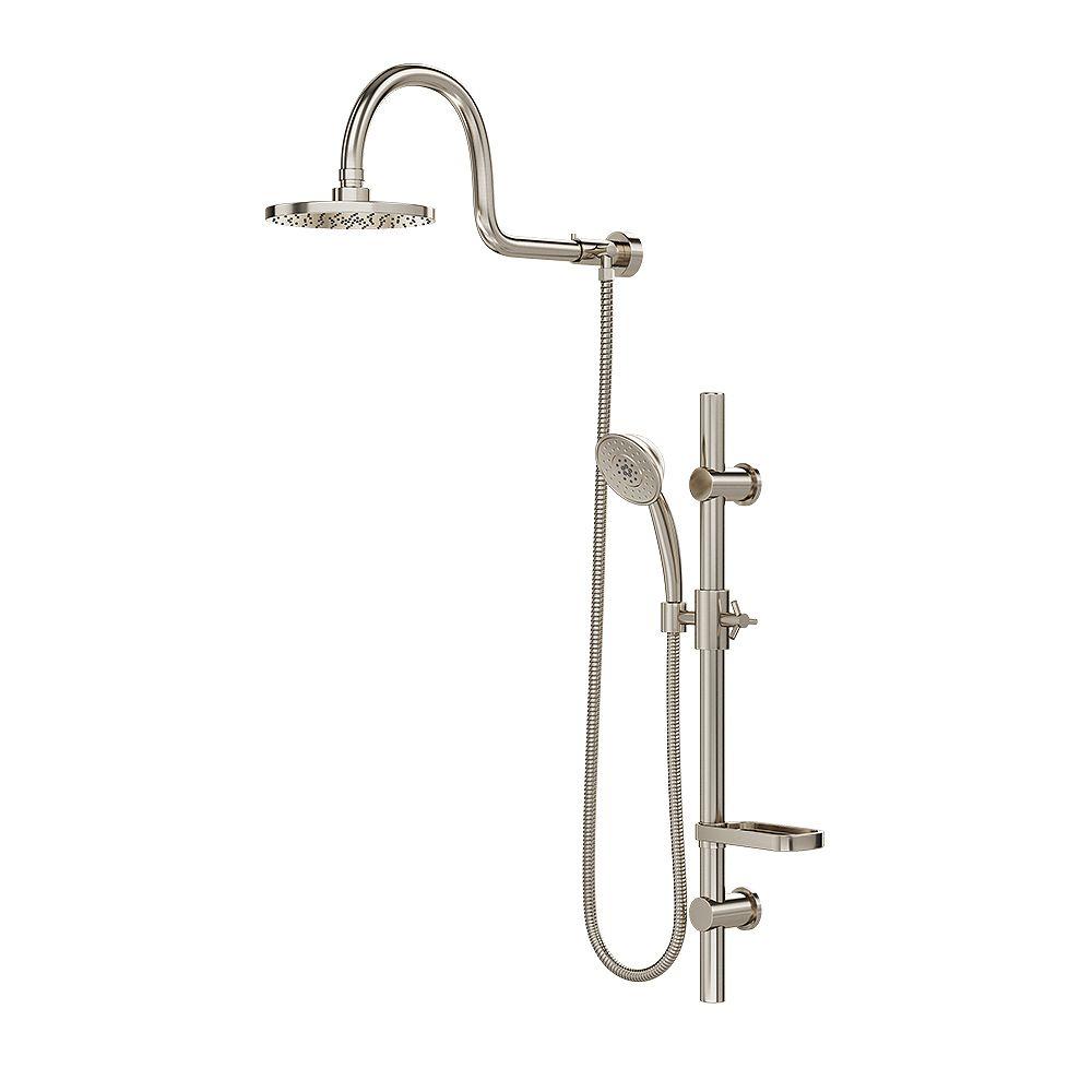 PULSE ShowerSpas Nickel brossé Pulse Aqua  Système de douche à pluie
