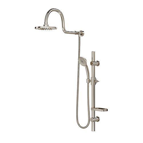 Nickel brossé Pulse Aqua  Système de douche à pluie
