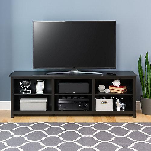 Sonoma 72 pouces meuble TV, noir
