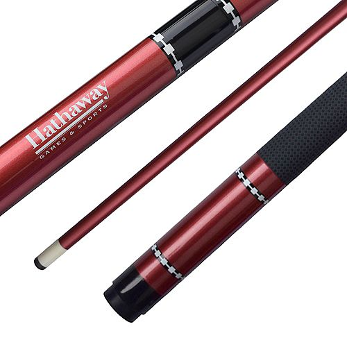 Conquest 58-in fibreglass Cue - Red