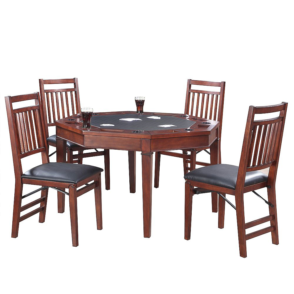 Hathaway Broadway 48-in Folding Poker Table & Chairs Set