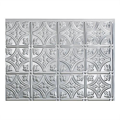 Traditional 1 Aluminium Brossé 18 po x 24 po Panneau en PVC Pour Dosseret