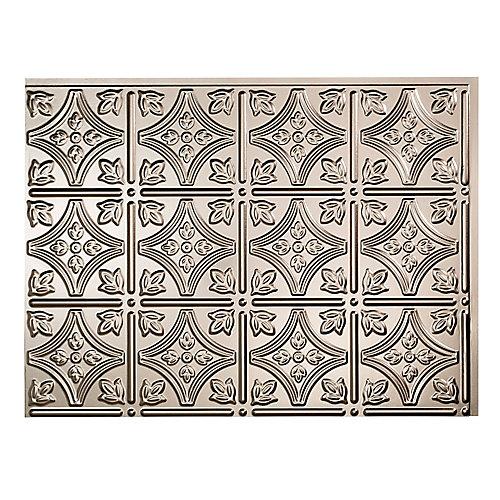 Traditional 1 Nickel Brossé 18 po x 24 po Panneau en PVC Pour Dosseret