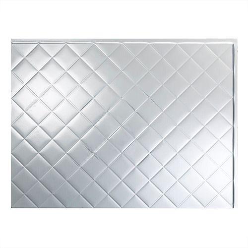 Quilted Aluminium Brossé 18 po x 24 po Panneau en PVC Pour Dosseret