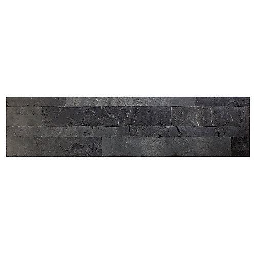 Charcoal Slate - 1 mc - 5.9 po x 23.6 po Tuile de Pierre pour Autocollante pour Dosseret