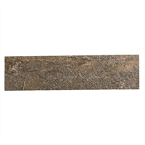 Mossy Quartz - 1 mc - 5.9 po x 23.6 po Tuile de Pierre Autocollante pour Dosseret