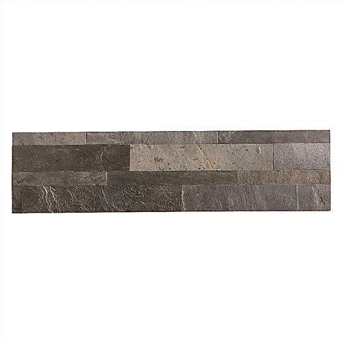 Iron Slate - 1 mc - 5.9 po x 23.6 po Tuile de Pierre Autocollante pour Dosseret