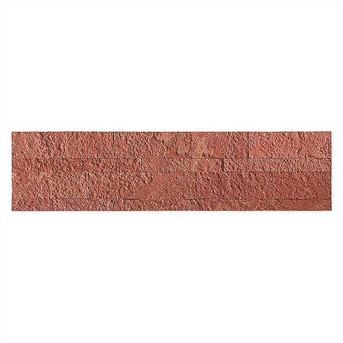 "Aspect Autumn Sandstone - 1-Piece- 5.9"""" x 23.6"""" Peel and Stick Stone Backsplash Tile"
