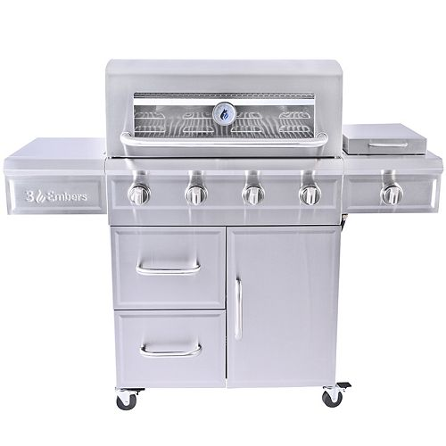 4-Burner Gas Grill with Radiant Embers Cooking System