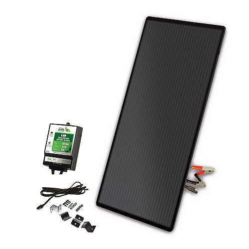 22-Watt Amorphous Solar Panel Charging Kit with 8 Amp Charge Controller for 12-Volt Systems